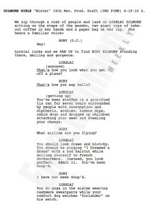 First page script