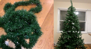 Tinsel and tree